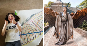 Cosplayer Creates Wings For Her Costume That She Can Move At Will